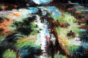 Sosnowica, pastel, 54×84