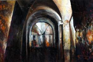 Lublin – starówka, pastel, 54×84