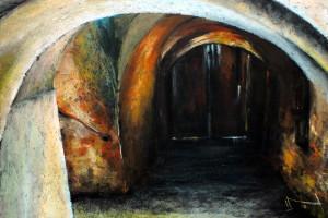 Lubelska starówka, pastel, 54×84