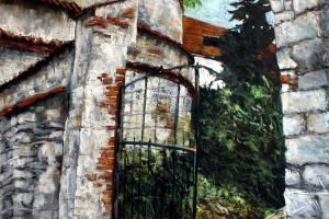 Kazimierz Dolny – klasztor, pastel, 54×84