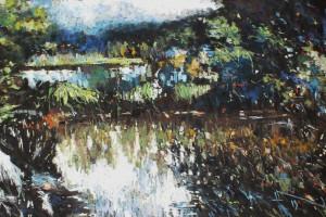 Bardo Śląskie, pastel, 54×84