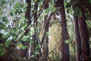 Lasy janowskie, pastel, 54×84