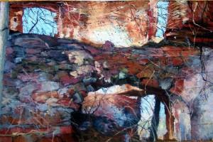 Kotlina Kłodzka – ruiny, pastel, 54×84