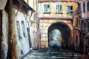 Lublin – Brama Grodzka, pastel, 54×84