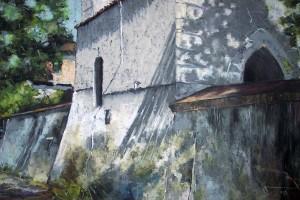 Kazimierz Dolny – fara, pastel, 54×84