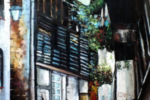 Dinan – Francja II, pastel, 54×84