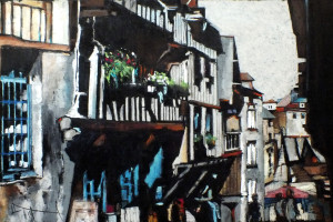 Dinan – Francja I, pastel, 54×84