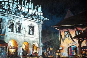 Kazimierz Dolny nocą, pastel, 54×84