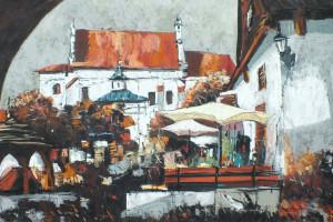 Kazimierz Dolny – rynek, pastel, 54×84
