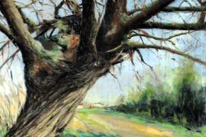 Załęcze Wielkie, pastel, 50×70