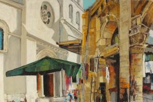 Jerozolima, pastel, 54×84