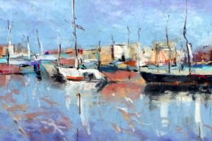 Nicea, Francja, pastel, 22×77