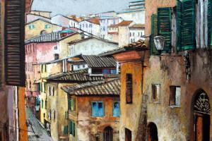 Siena, pastel, 54×84