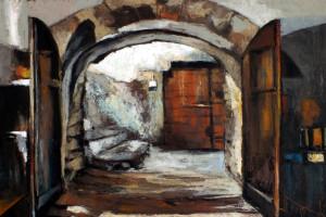 Gaggio Montano, Włochy, pastel, 54×84