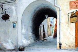 Lublin –  Brama Ku Farze, pastel, 54×84