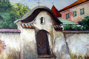 Lublin – Furta przy ulicy Jezuickiej, pastel, 54×84
