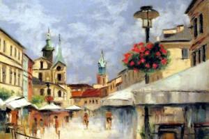 Lublin – Krakowskie Przedmieście, pastel, 54×84