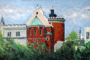 Lublin – Zamek, pastel, 54×84